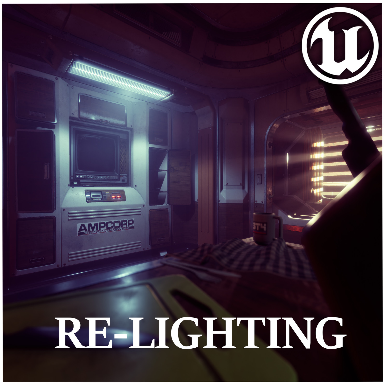 UE4 Alien Isolation Style Lighting | Liam Tart's Sci-Fi Bunk - Cyberpunk ReLight