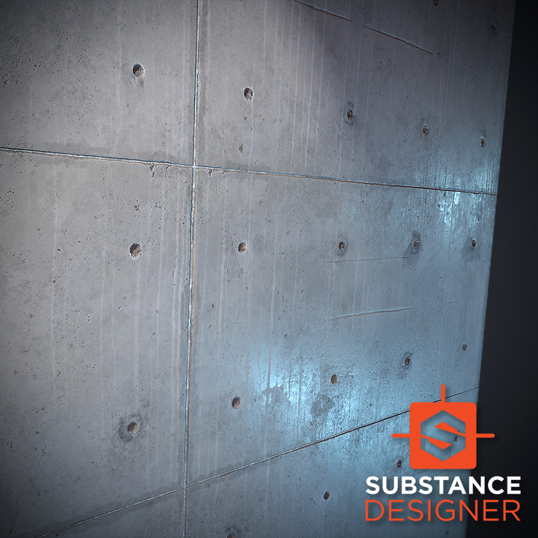Poured Concrete / Substance Designer