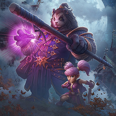 Kerem beyit kerem beyit iron alliance key art pandaren gnome v2 detail