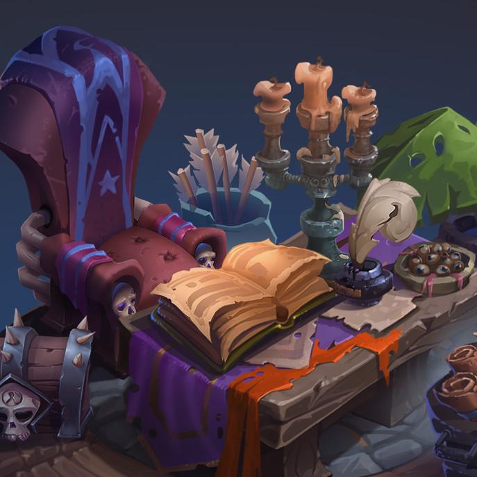 The craftsman's shop of magic props