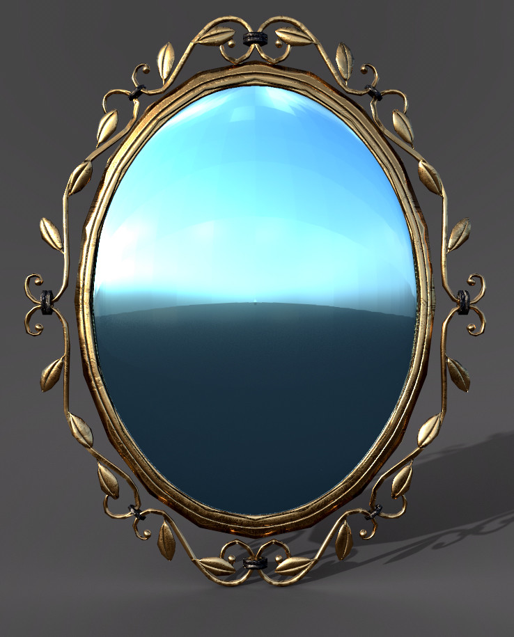 Game Ready Low Poly Mirror