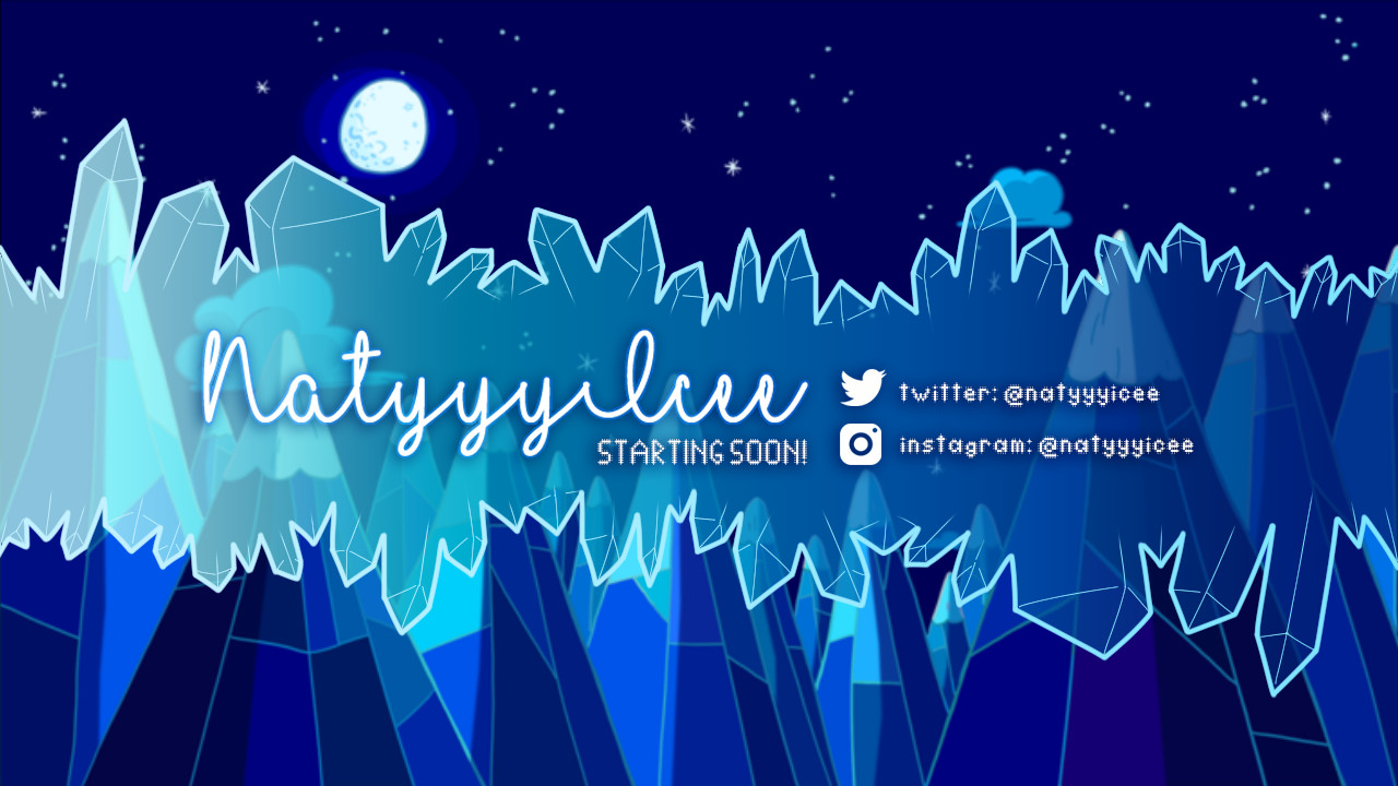 ArtStation - NatyyyIcee Twitch Overlay, Sherilynn Macale