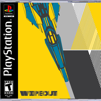 Ben nicholas ps1 gamecover wipeout