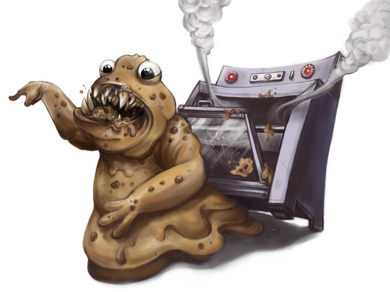 Cookie Dough Monster - Children's Book Illustration