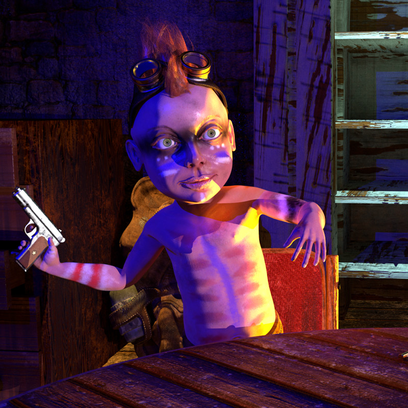 Mad Maude, Post-apocalyptic animation / concept of proof for a 3d  animation project
