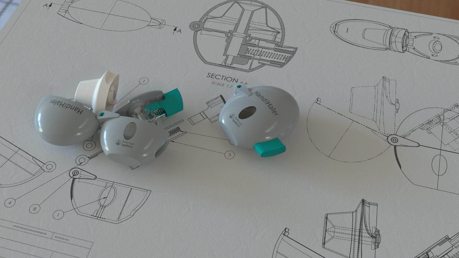 Technical Nurbs Modeling - HandiHaler