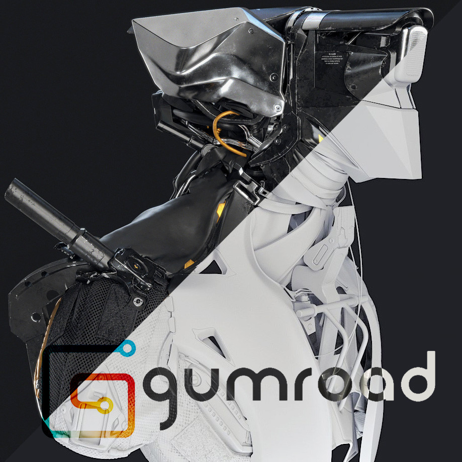 MM44 - Mecha Hard Surface Tutorial - Gumroad