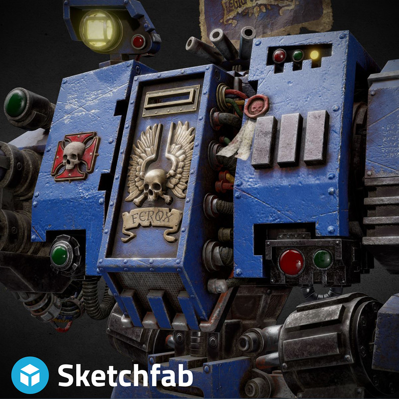 Ultramarine Dreadnought - SKETCHFAB