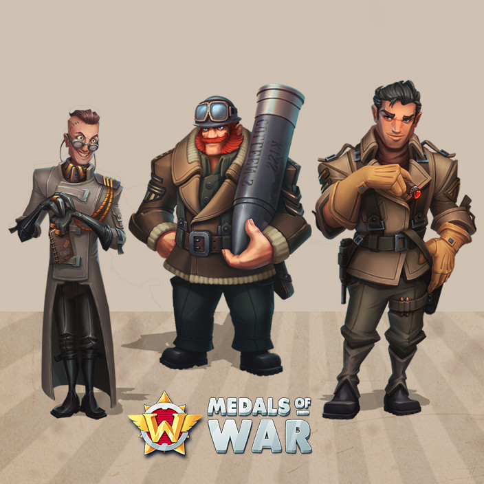 Medals of War: characters