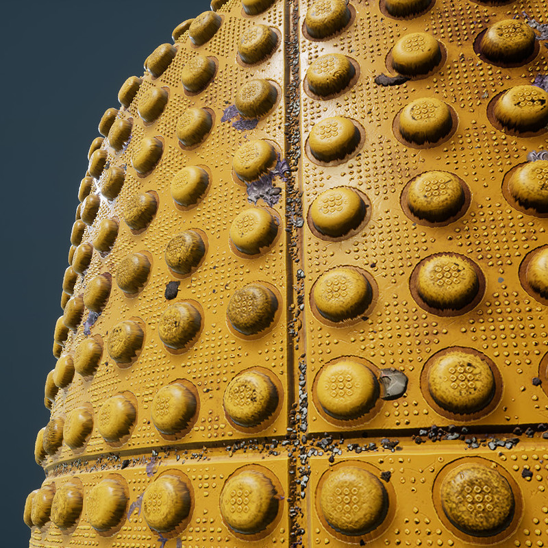 Yellow Plastic Bumps - Procedural Textures