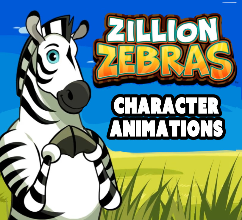 Zillion Zebras character animations & designs 2016