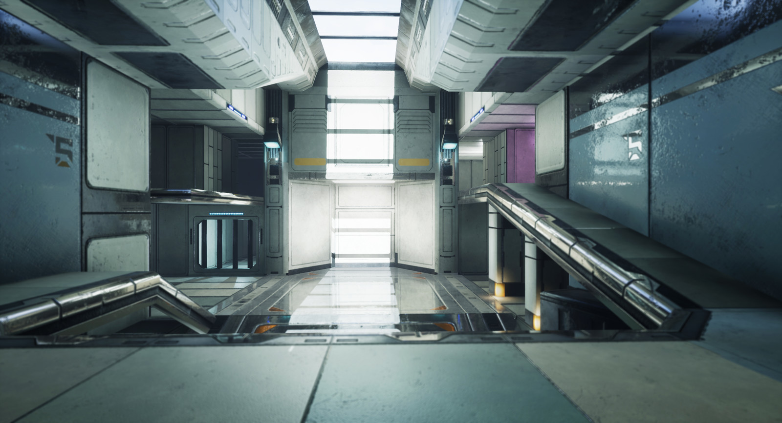 Low Poly Modular Sci Fi Room