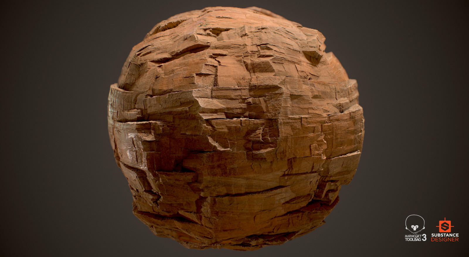 Blocky Desert Rock Substance Designer