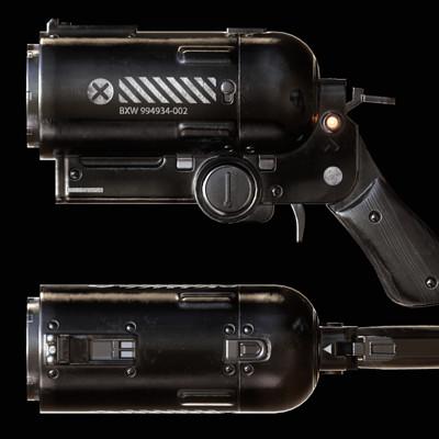 Sergey tyapkin scifi pistol orto
