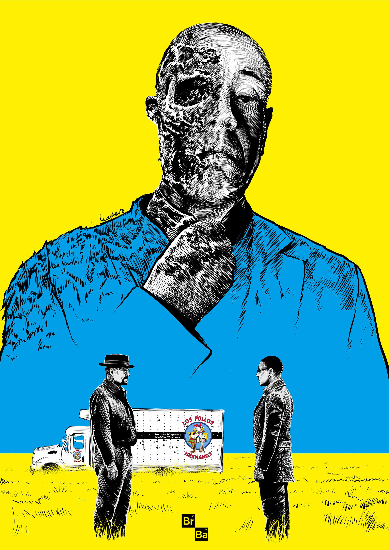 Artstation Breaking Bad Gus Fringe Poster Art Paola Morpheus