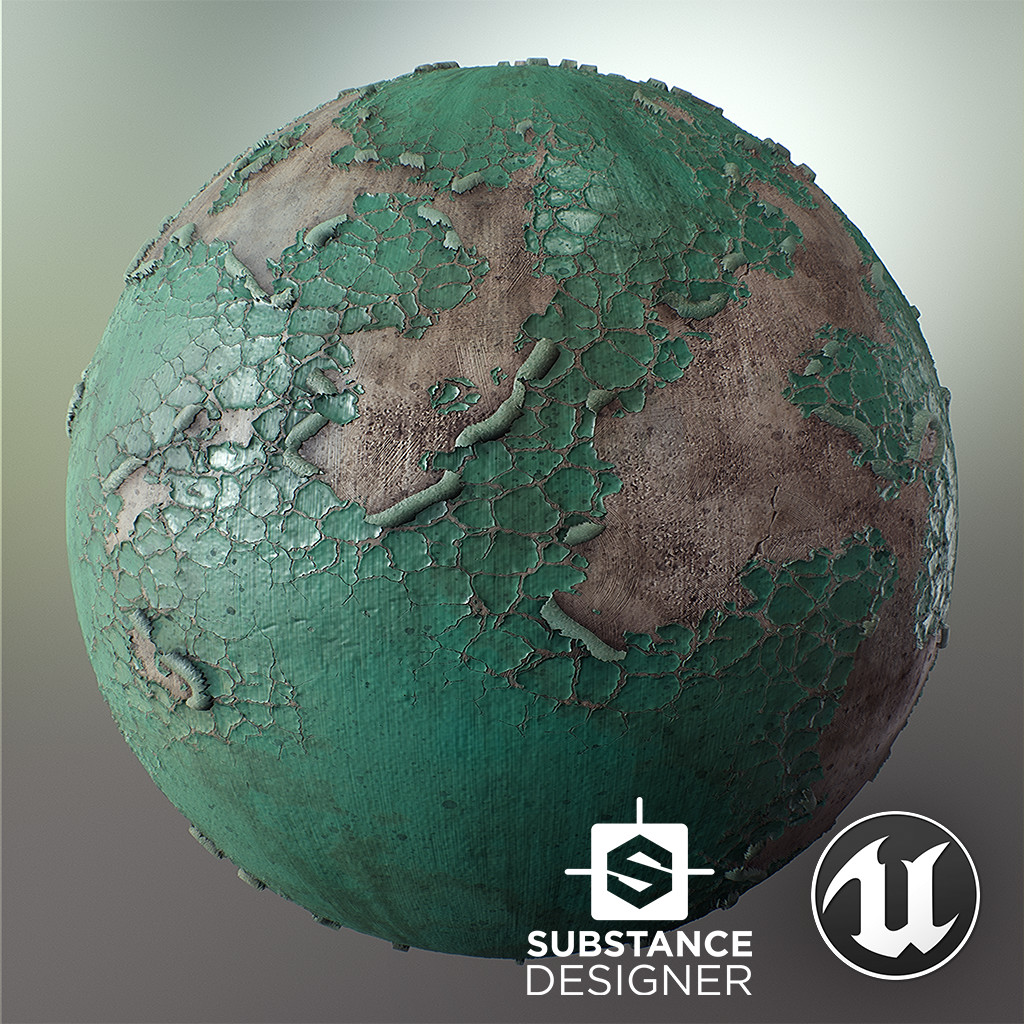 Cracked Paint - (100% Substance Designer)