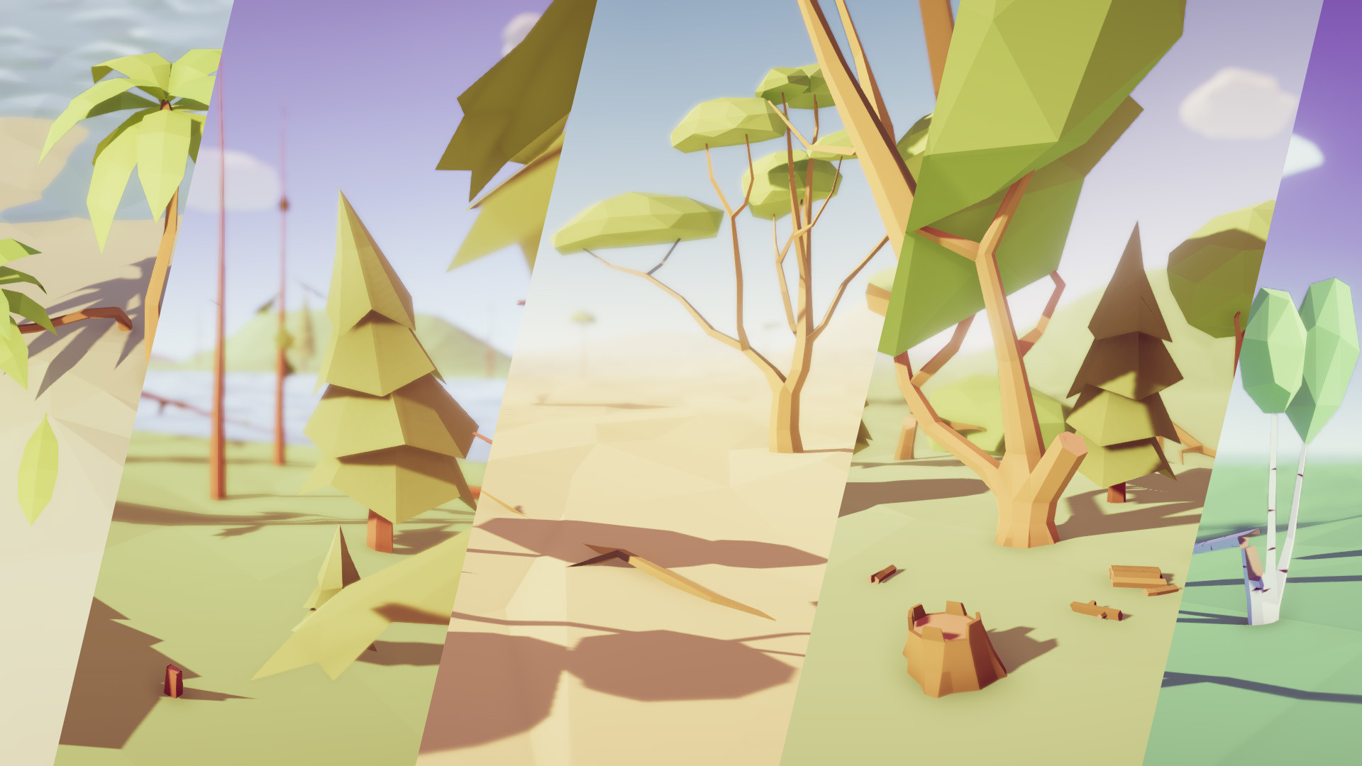ArtStation - Low Poly Trees Pack - Unity Asset Store