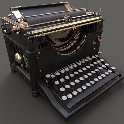 Molly warner iray render typewriter front final