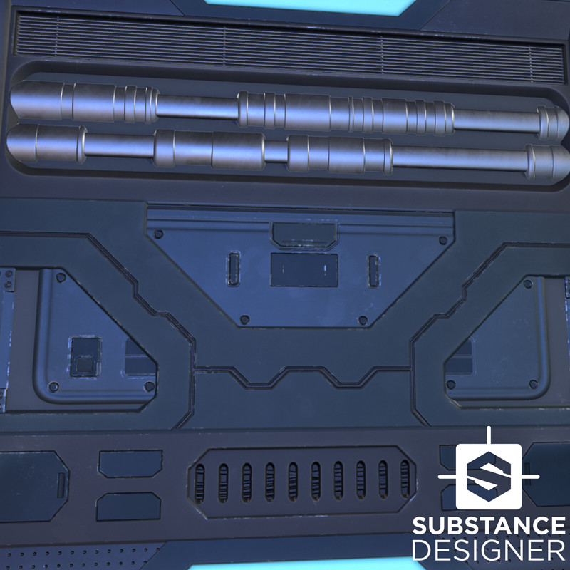 Substance Challenge - Sci-Fi Wall