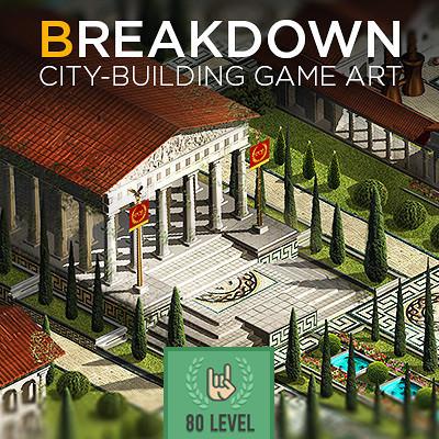 Сity-building game art