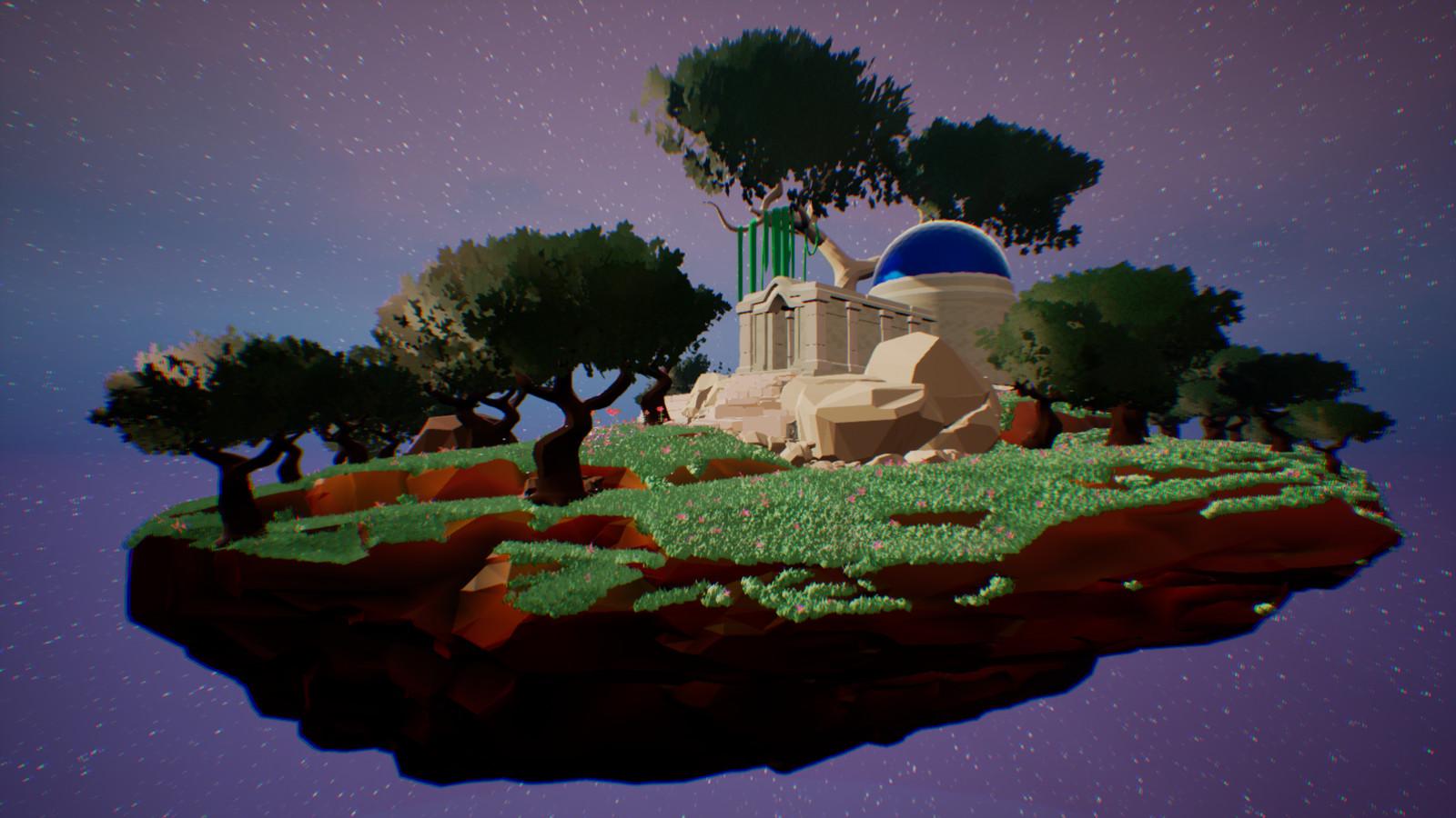 Space Temple UE4