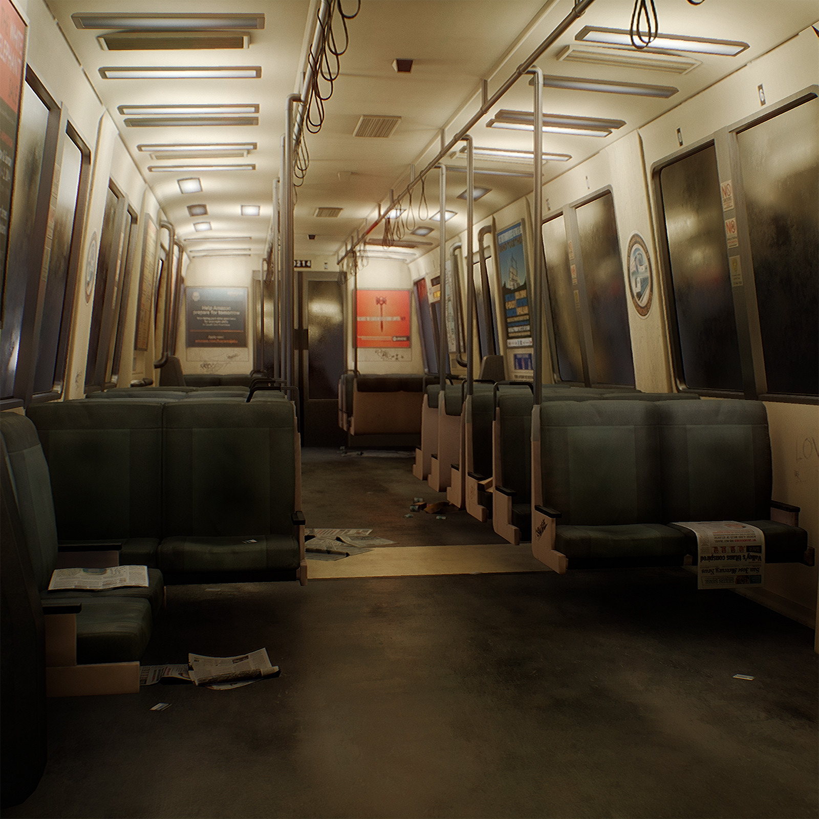 [UE4] BART Train Car