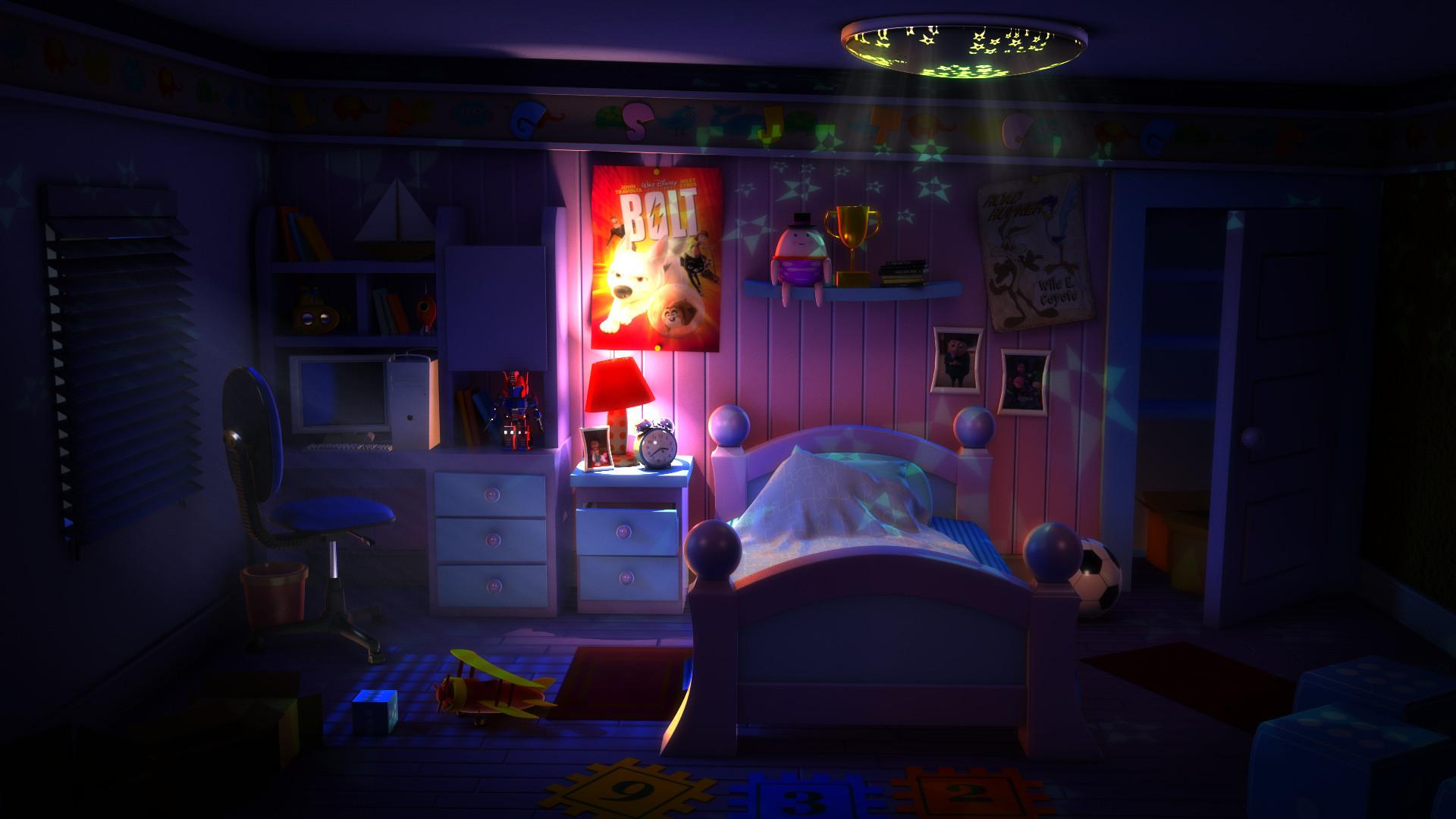 Artstation Kid Room Day And Night Mood Surya Vaishak