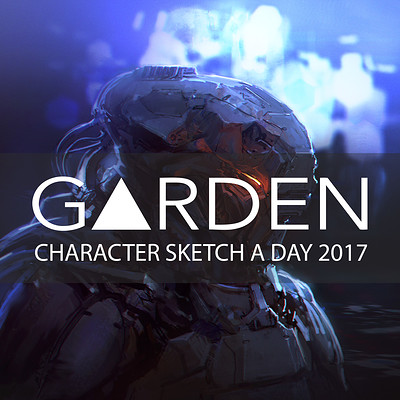 Tom garden character a day 2017 logo