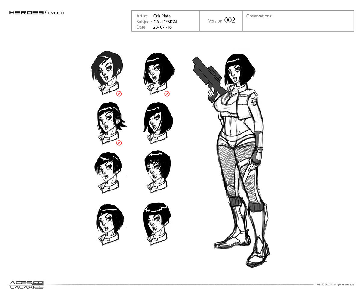 ORION INVASION - Character Design