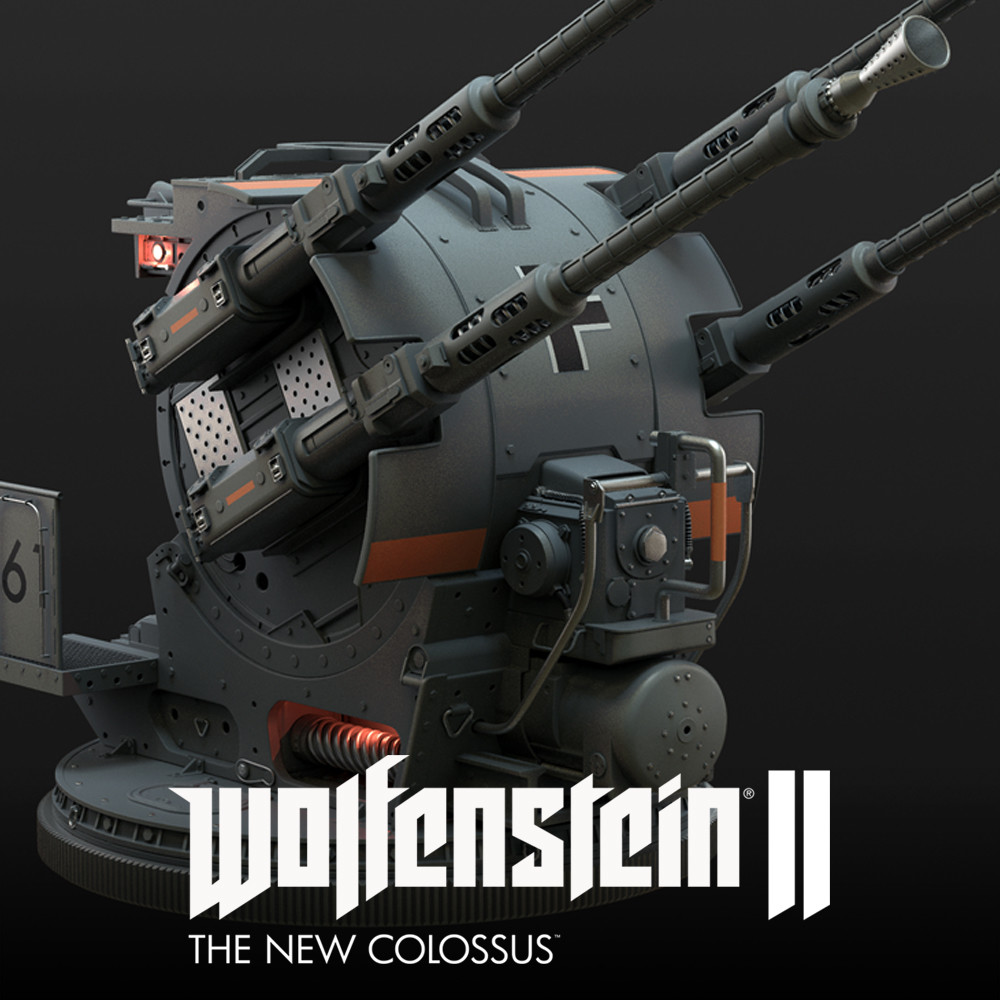 Wolfenstein 2: anti air turret