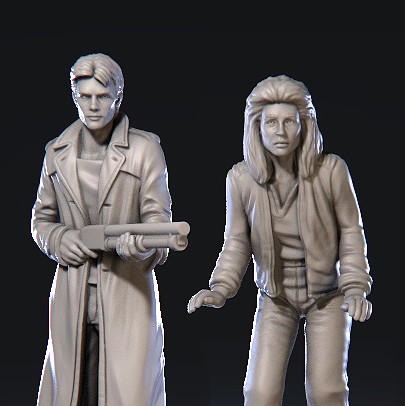 Sarah Connor & Kyle Reese - The Terminator: The official board game