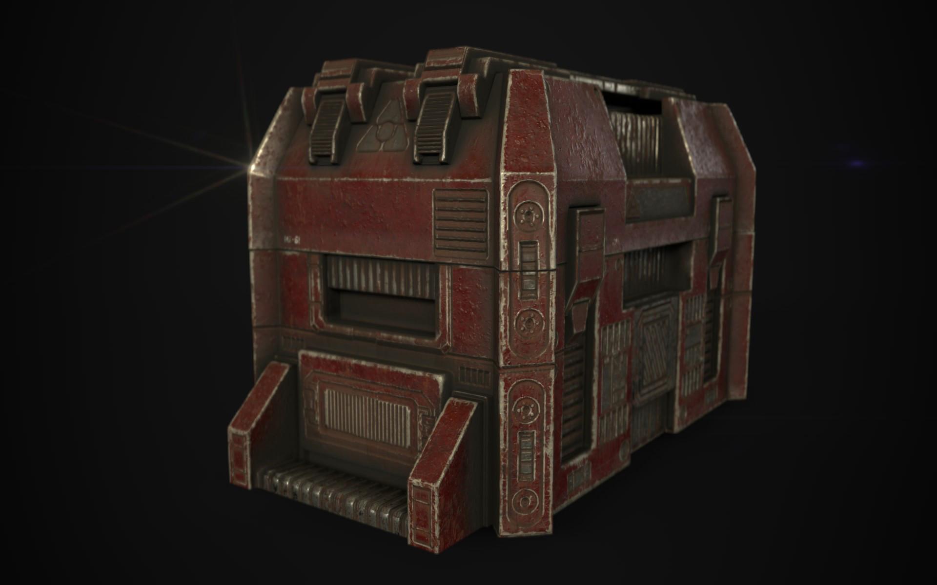 ArtStation - Substance Painter - Sci-Fi Crate, Griffin Leadabrand