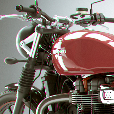 Triumph Street Twin High Poly