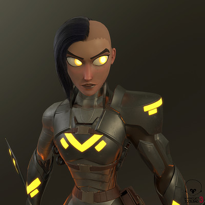 Halima - Sci-Fi Assassin - Real-Time Character
