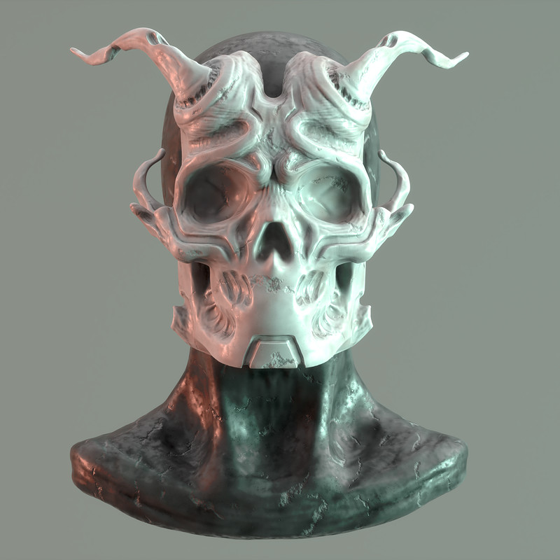 Sculpt January 2018 - Day 2: Mask