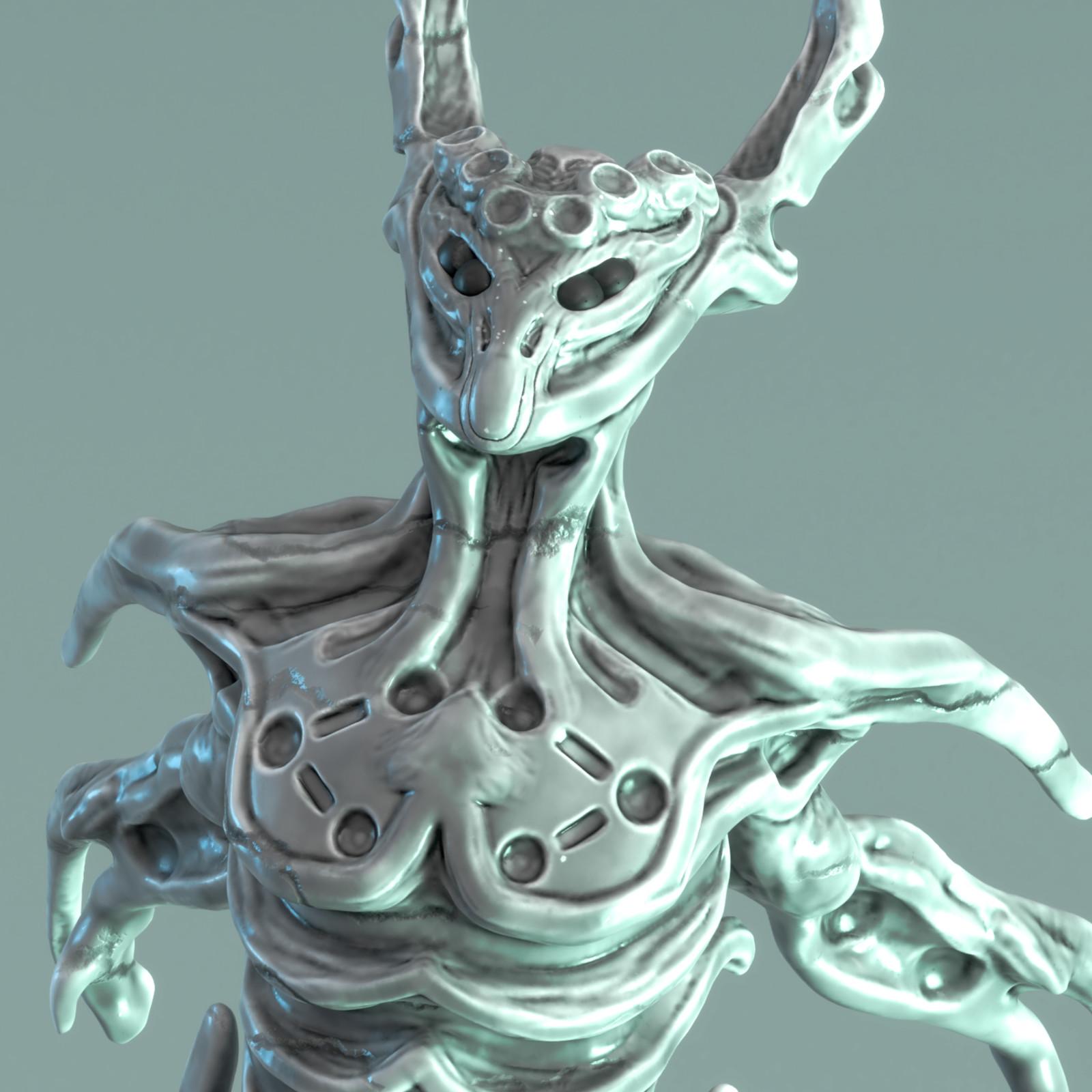 Sculpt January 2018 - Day 6: Monster