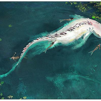 Fred palacio fred palacio fredpalacio dragon02 mermaid lamia albinos final th