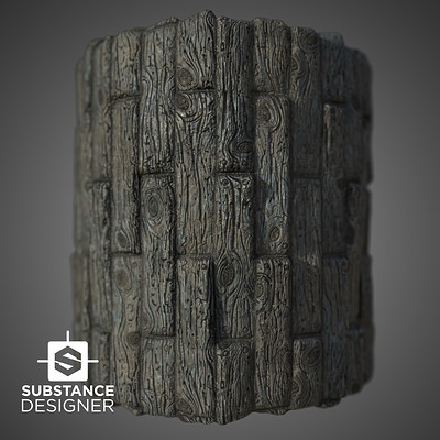 Wood planks aged in Substance Designer / UE4 and Unity