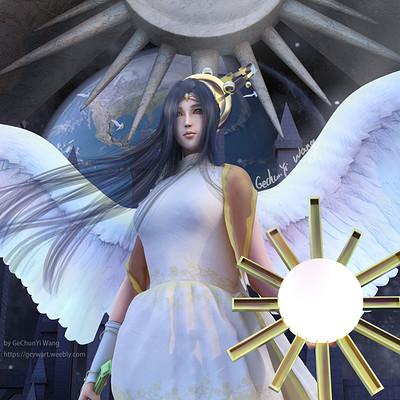 Gechunyi wang sun goddess detail02