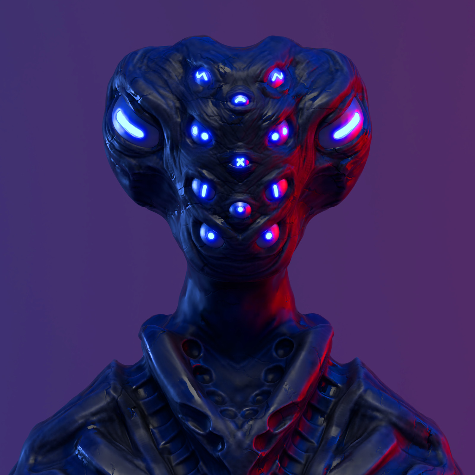 Sculpt January 2018 - Day 7: Eyes