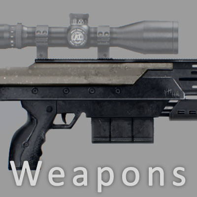 Concept art -  weapons