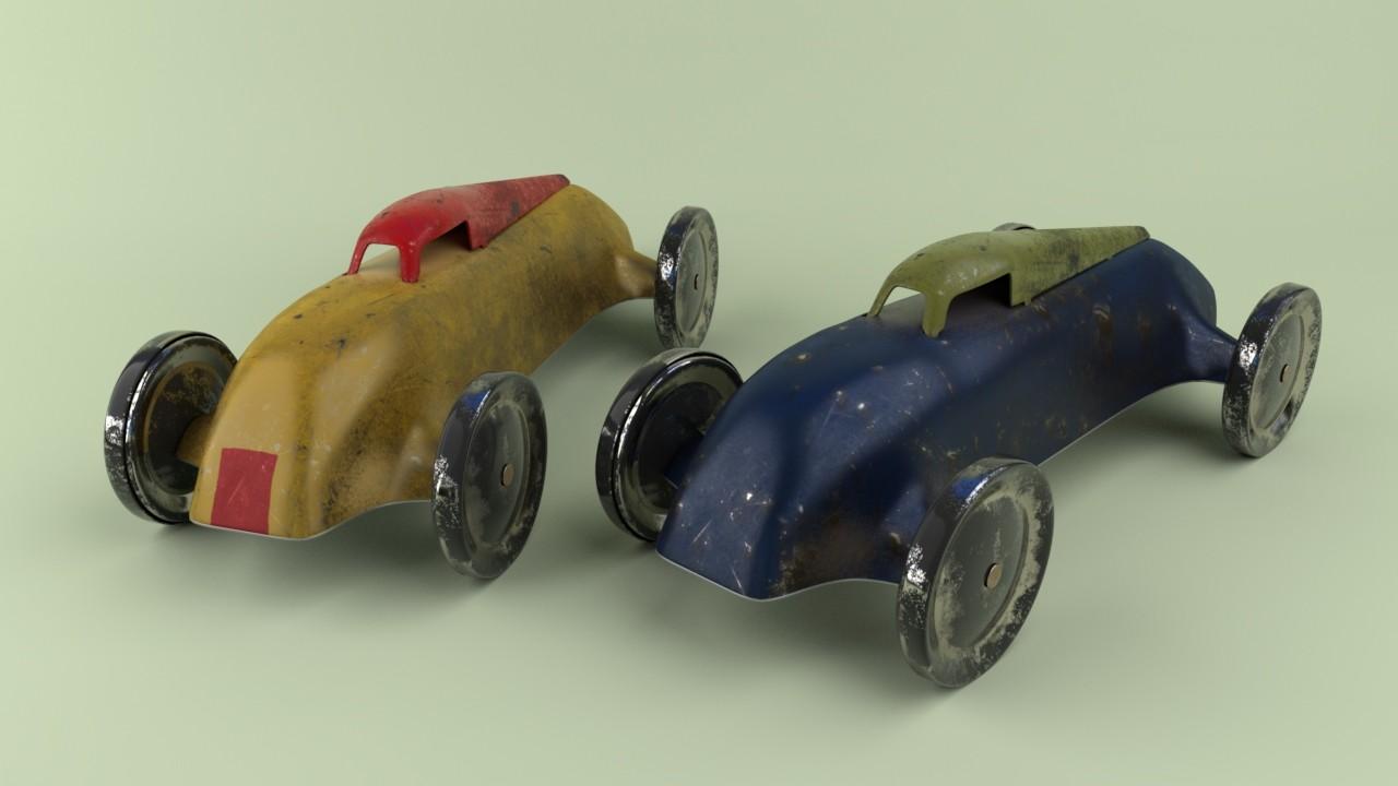 Tin toy cars