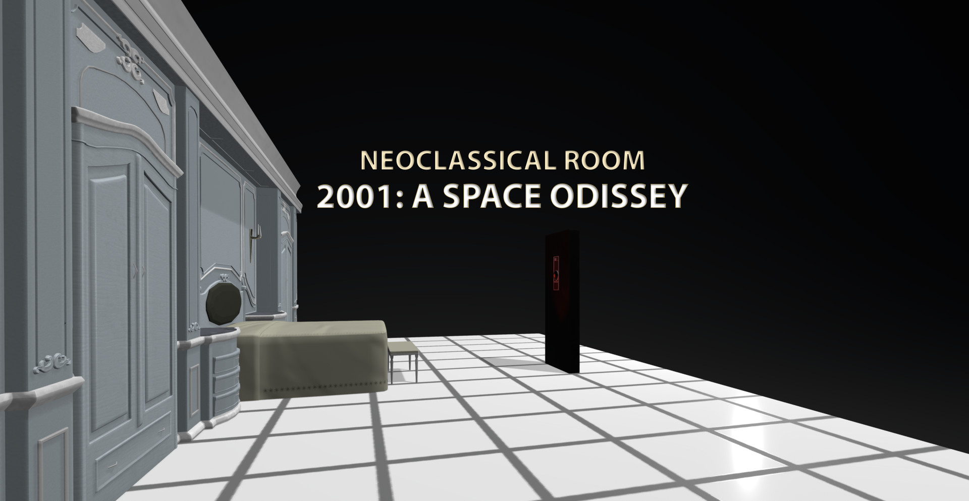 Artstation Neoclassical Room 2001 A Space Odyssey Cg Bang