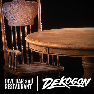 Dekogon - Wooden Table and Chairs