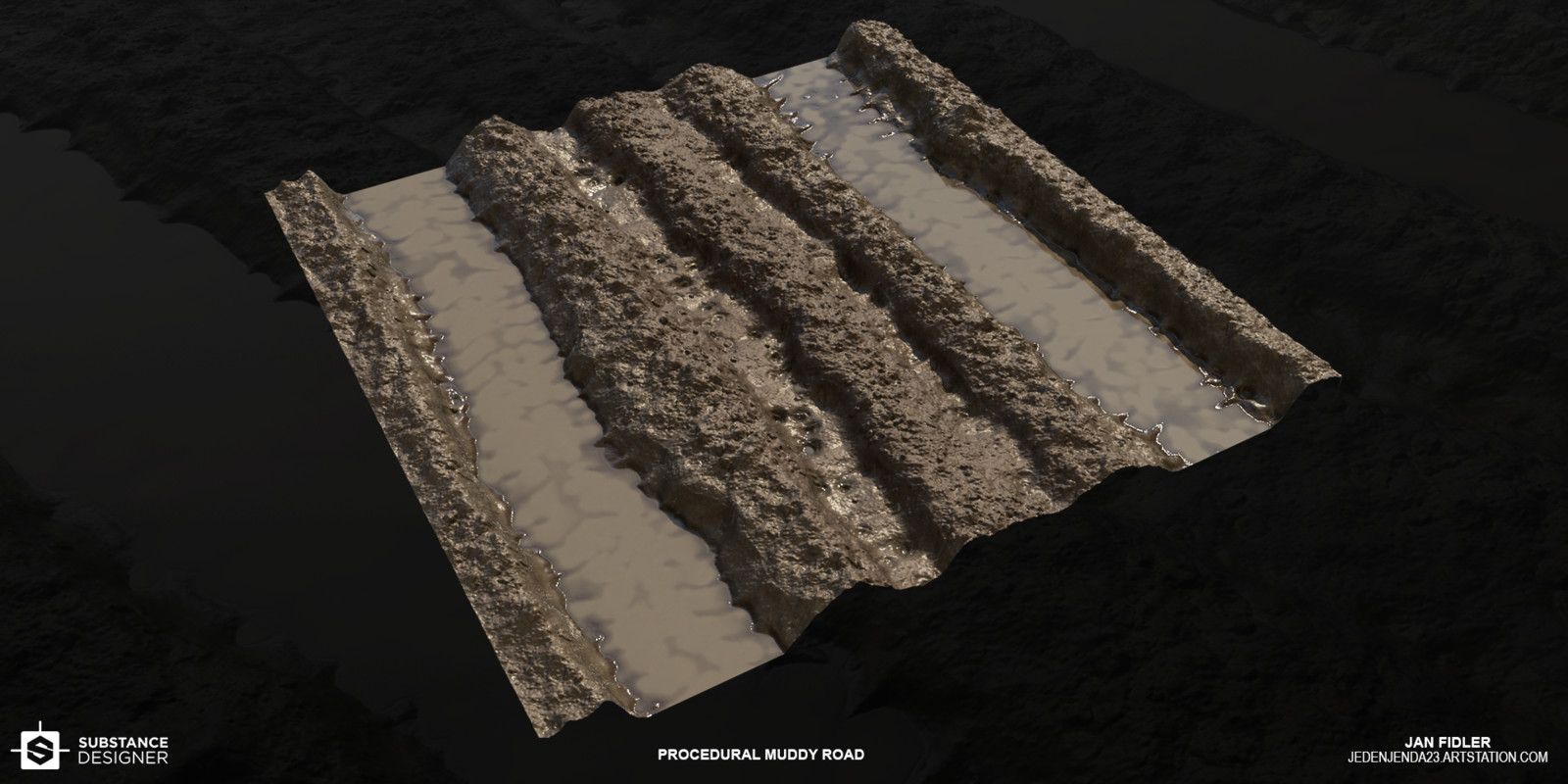 Muddy Road (Substance Designer)