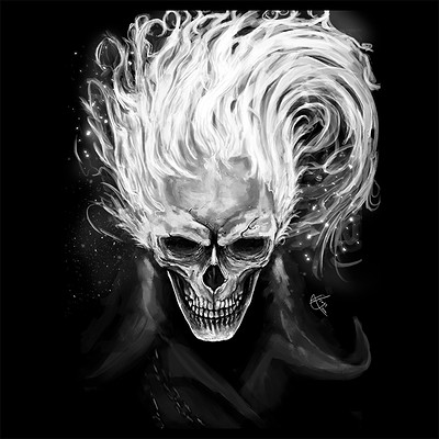 Efrain sosa skull in flames cuadrada 720p by efrain sosa