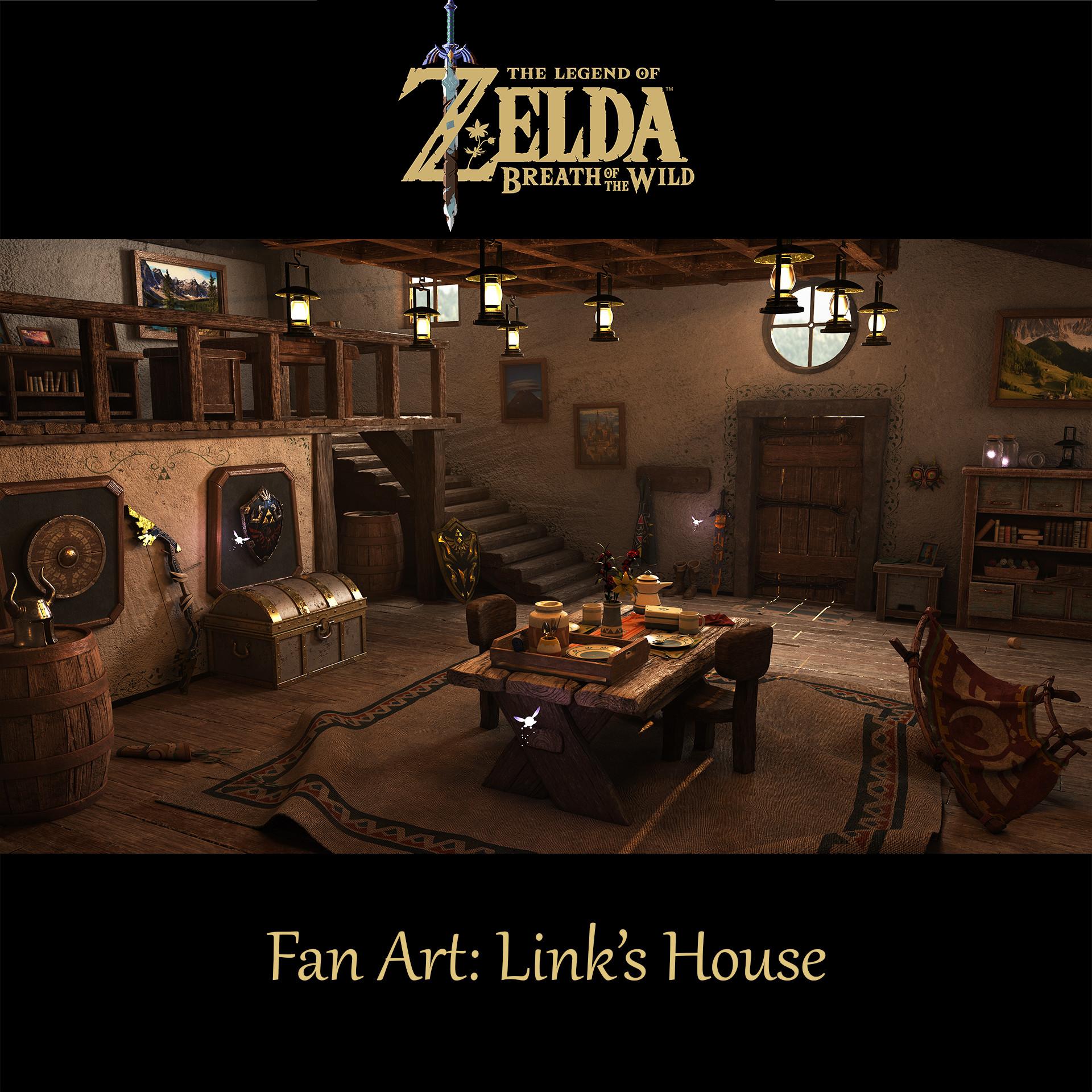 Artstation The Legend Of Zelda Breath Of The Wild Fan Art