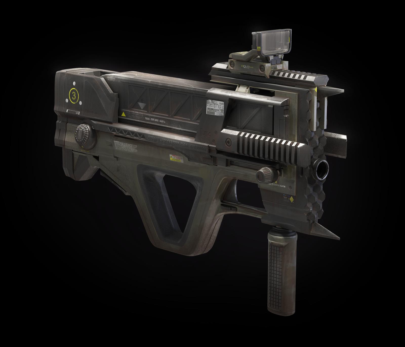 Bullpup Automatic Shotgun