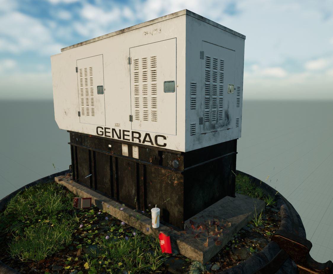 ArtStation - Diesel Industrial Generator - Lift Station
