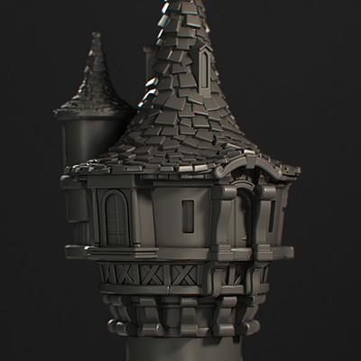 Stylized Rapunzel Tower 3D Print